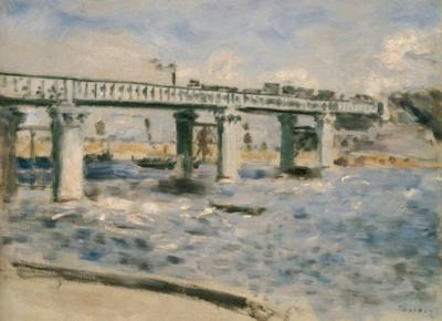 ピエール=オーギュスト・ルノワール《アルジャントゥイユの橋》(財団法人上原近代美術館蔵)