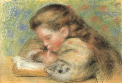 ピエール=オーギュスト・ルノワール《読書する少女》(個人蔵)