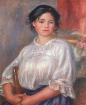 ピエール=オーギュスト・ルノワール《座る女(エレーヌ・ベロン)》(オルセー美術館蔵)