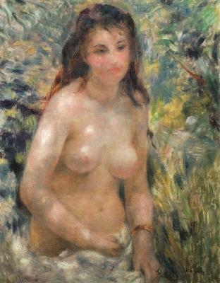 ピエール=オーギュスト・ルノワール陽光の中の裸婦(試作、裸婦・光の効果)》(オルセー美術館蔵)