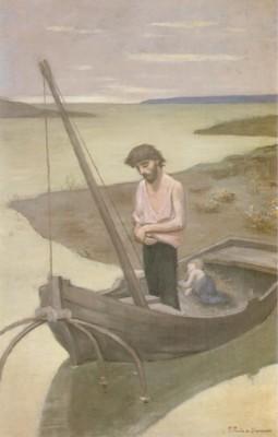 ピエール・ピュヴィ・ド・シャヴァンヌ《貧しき漁夫》(国立西洋美術館蔵)