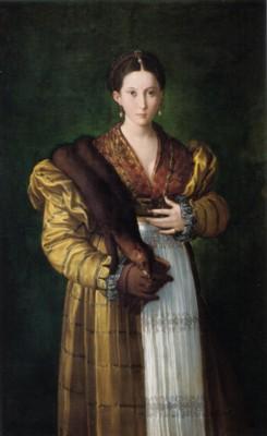 パルミジャニーノ《貴婦人の肖像(アンテア)》