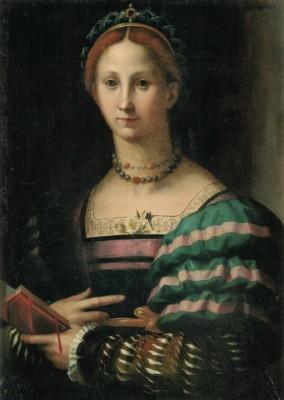 ブロンズィーノに帰属《貴婦人の肖像》
