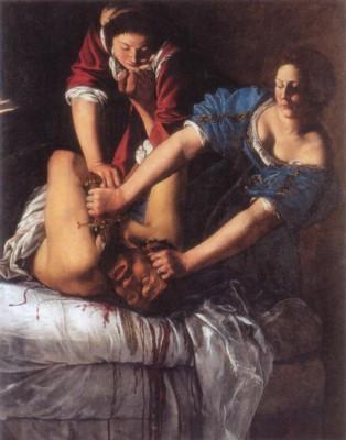 アルテミジア・ジェンティレスキ《ユディトとホロフェルネス》