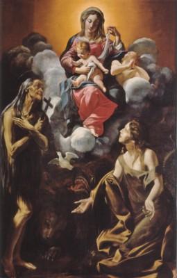 ジョヴァンニ・ランフランコ《聖母子とエジプトの聖マリア、アンティオキアの聖マルガリタ》