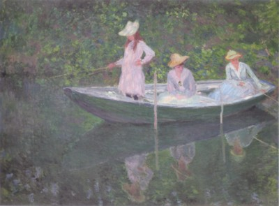 クロード・モネ《ノルウェー型の舟で》