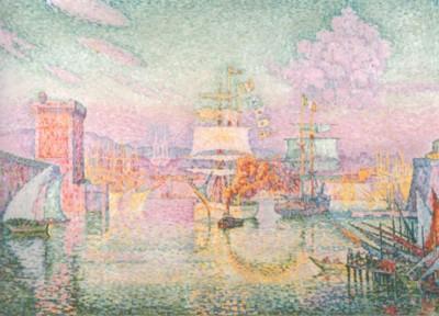 ポール・シニャック《マルセイユ港の入り口》