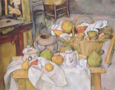 ポール・セザンヌ《台所のテーブル(籠のある静物)》