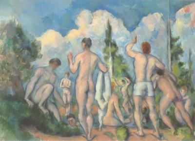 ポール・セザンヌ《水浴の男たち》