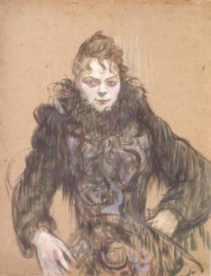 アンリ・ド・トゥールーズ=ロートレック《黒いボアの女》