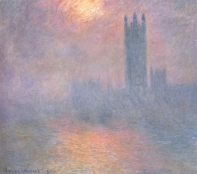 クロード・モネ《ロンドン国会議事堂、霧の中に差す陽光》