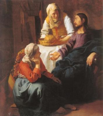 ヨハネス・フェルメール《マルタとマリアの家のキリスト》(スコットランド・ナショナル・ギャラリー蔵)