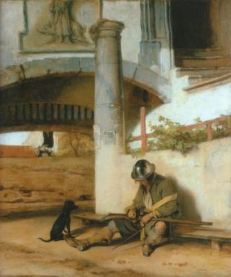 カレル・ファブリティウス《歩哨》(シュヴェリン国立美術館蔵)